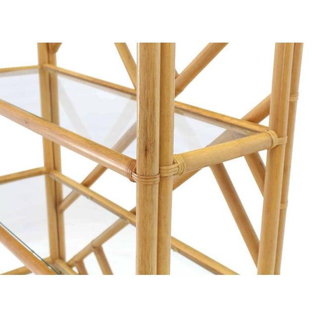 Nice large rattan bamboo style shelf or étagère.