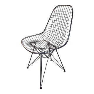 Mid Century Modern Herman Miller Eames Wire Chair For Sale