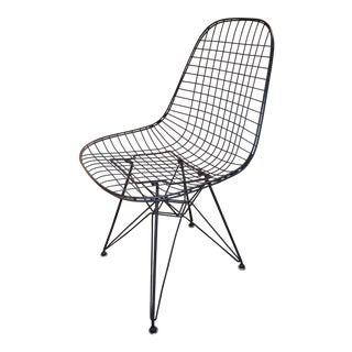 Vintage Mid Century Herman Miller Original Eames Wire Chair For Sale