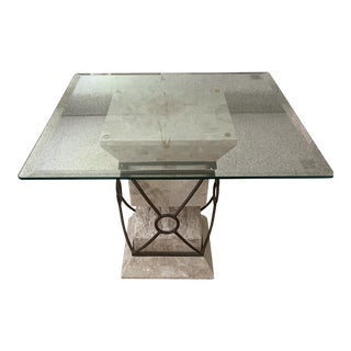 Modern Marble End Table For Sale