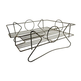 Art Deco Wire Paper Tray For Sale