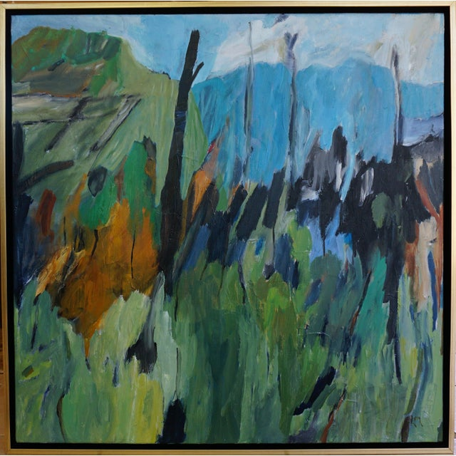 Canvas Laurie MacMillan Original Abstract Landscape Painting For Sale - Image 7 of 7