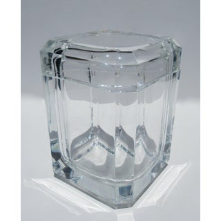 Mid-Century Modern Alessandro Albrizzi Lucite Square Faceted Ice Bucket Preview