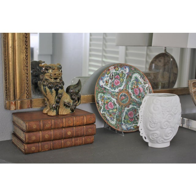 Vintage Terracotta Glazed Foo Dogs - Pair - Image 6 of 7