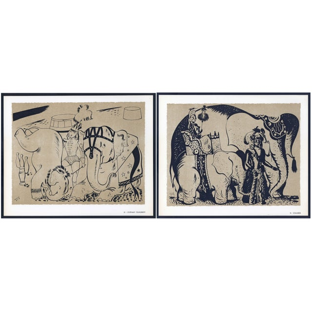 1944 Lithographs - Circus: # 52 & 75 - A Pair - Image 1 of 7