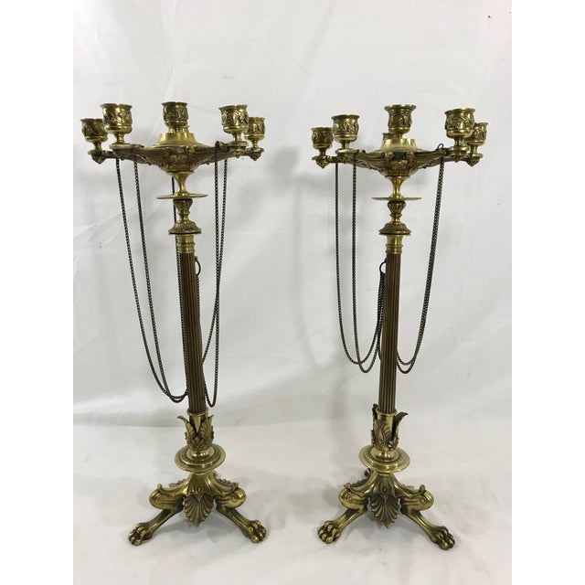 Charles X Bronze Candelabra a Pair For Sale - Image 11 of 11