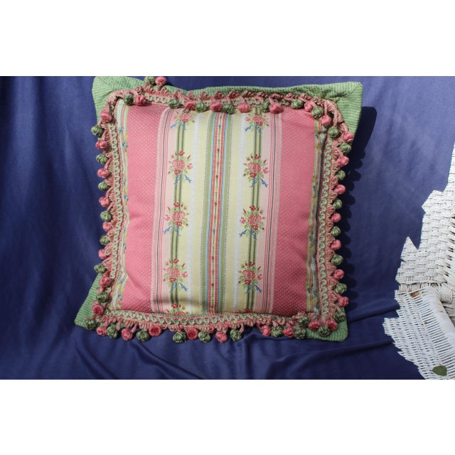 Green Mid 20 C. French Chair Pillow For Sale - Image 8 of 9