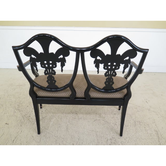 Italian Made Hepplewhite Paint Decorated Double Settee For Sale - Image 11 of 13