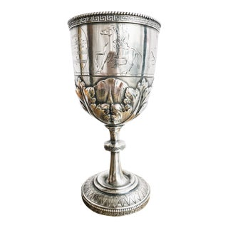 Mid 19th Century Antique Tiffany & Co Sterling Cup Presented to Irish Playwright For Sale