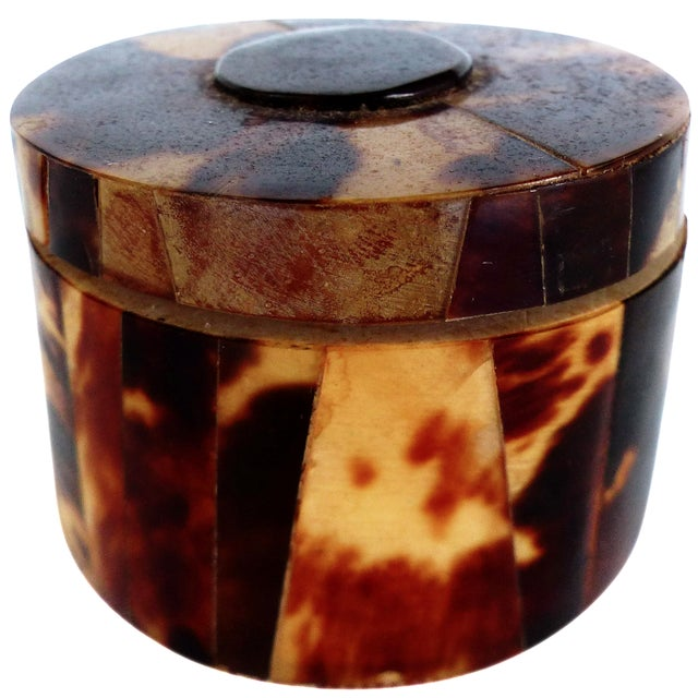 Faux-Tortoise Lidded Trinket Box - Image 1 of 6