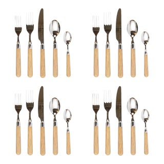 Kenneth Ludwig Chicago Vietri Albero Oak Place Settings - Set of 4 For Sale