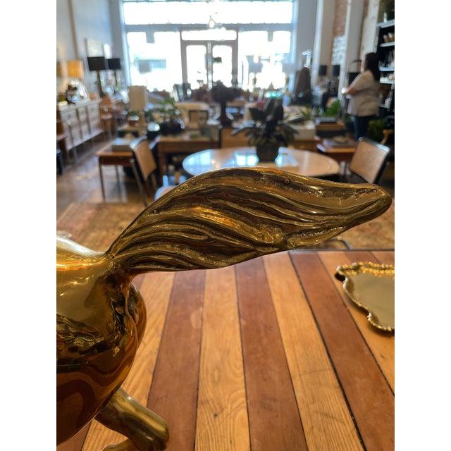 Metal Vintage Brass Horse For Sale - Image 7 of 9