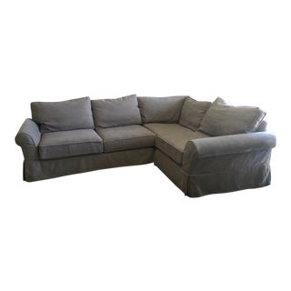 Pottery Barn 3 Piece Sectional Sofa For Sale