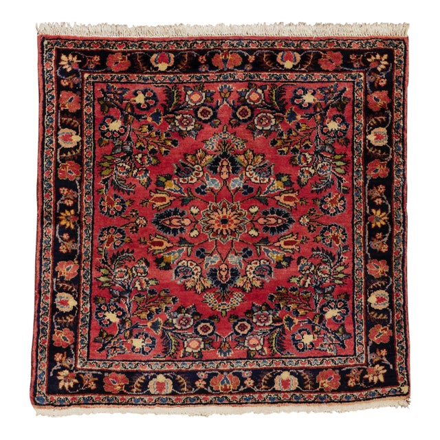 """1920s Vintage Persian Hamadan Square Rug, 3'3"""" X 3'5"""" For Sale"""