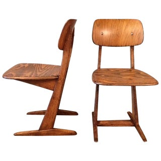 1950s Mid-Century Modern Casala Cantilever Children's Chairs - a Pair For Sale