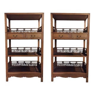 Chinese Bookcases, Pair For Sale
