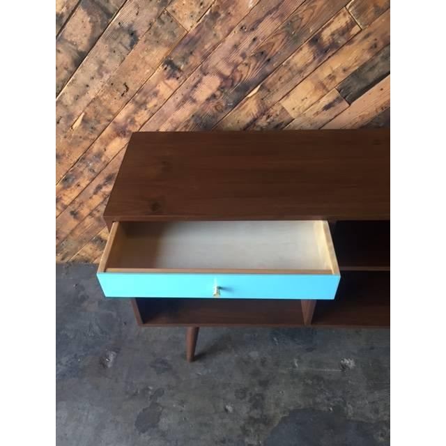 Custom Blue Drawer Credenza For Sale - Image 5 of 5