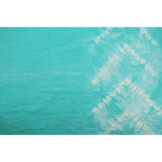 Hand Dyed Nui Shibori Pillow Cover in Aqua - Image 5 of 6