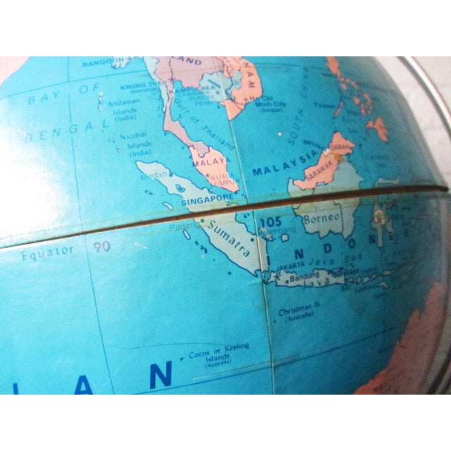 1970s Vintage Large Globe For Sale - Image 9 of 11