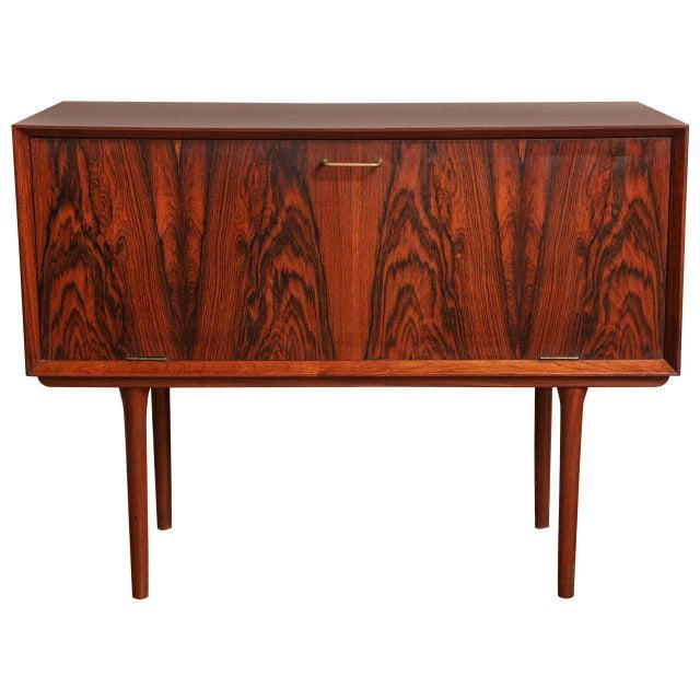 Italian Mid Century Wood Bar/Media Cabinet For Sale - Image 11 of 11