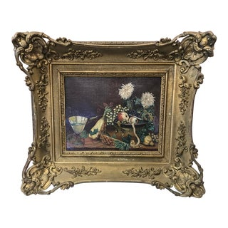 Mid 19th Century Antique Victorian Still Life Painting For Sale