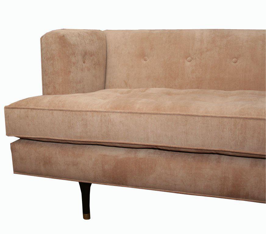 Customizable Lacombe Tufted Corduroy Sofa   Image 2 Of 5