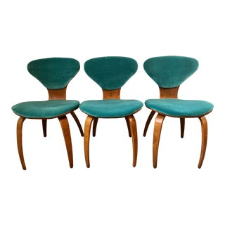 Norman Cherner Plycraft Pretzel Side Chairs- Set of 3 For Sale