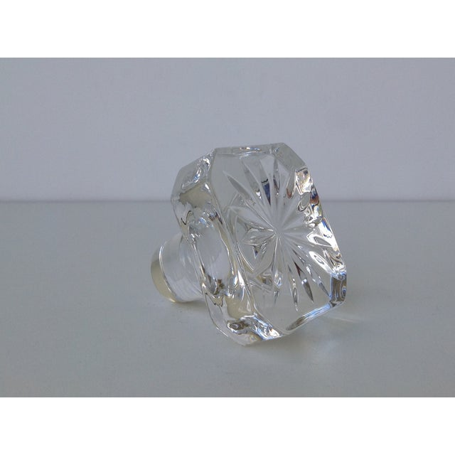 Glass Square Cut Beveled Decanter Top - Image 7 of 8