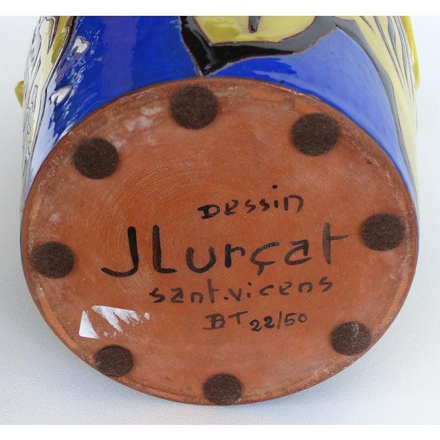 Ceramic Jean Lurçat French Mid-Century Ceramic Vase 22/50 For Sale - Image 7 of 13