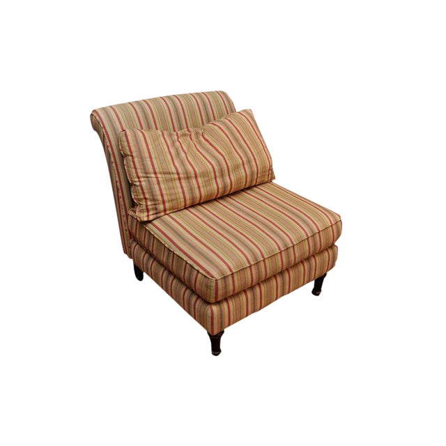Lillian August Striped Slipper Chair For Sale