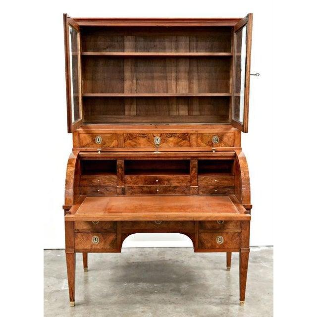 18th Century Louis XVI Period Bureau À Cylindre Cylinder Secretary Desk For Sale - Image 4 of 10