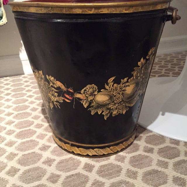 Black & Gold Vintage Pail - Image 2 of 3