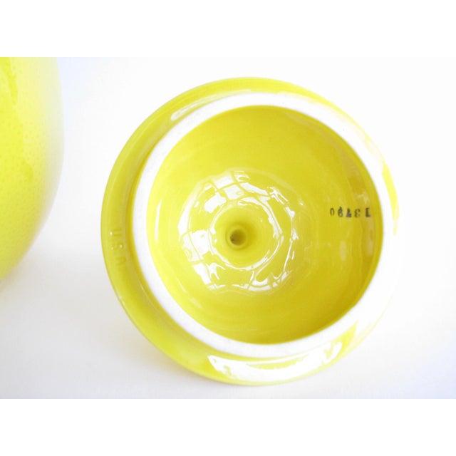 Vintage Lemon Shaped Ceramic Cookie Jar or Canister For Sale In Chicago - Image 6 of 12