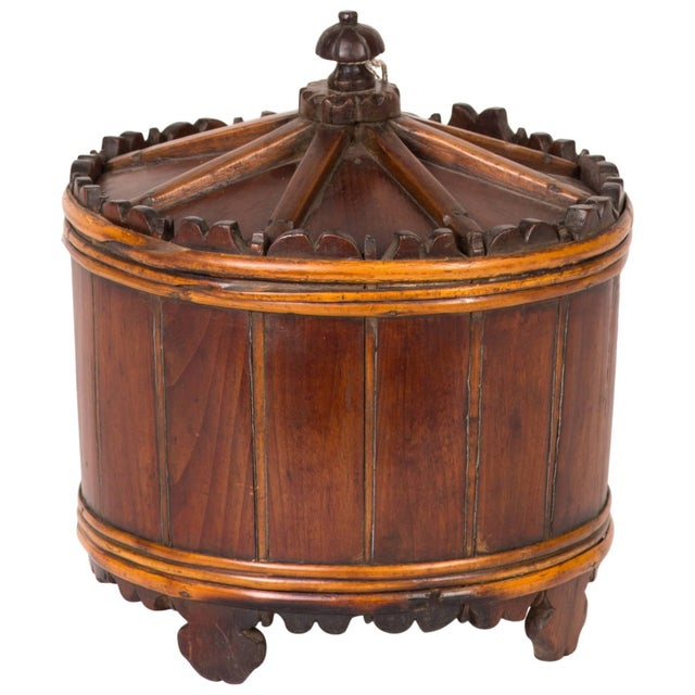 Mid 19th Century Wood Spice Bucket From Mid-19th Century Sweden For Sale - Image 5 of 5