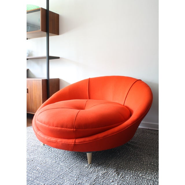 Milo Baughman Round Chaise Lounge For Sale - Image 5 of 10