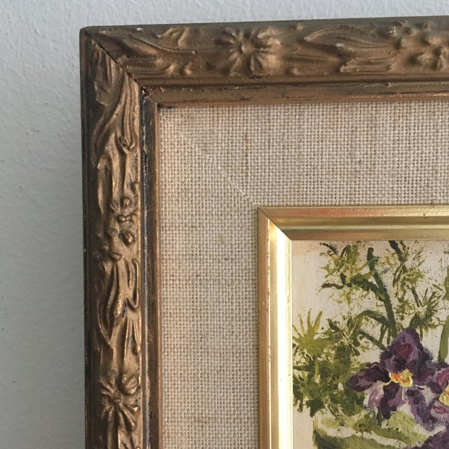 Vintage Floral Oil Painting - Image 3 of 6