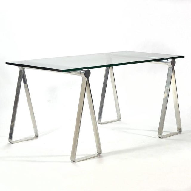 "1970s 1970s Aluminum ""Sawhorse"" Table or Desk For Sale - Image 5 of 10"