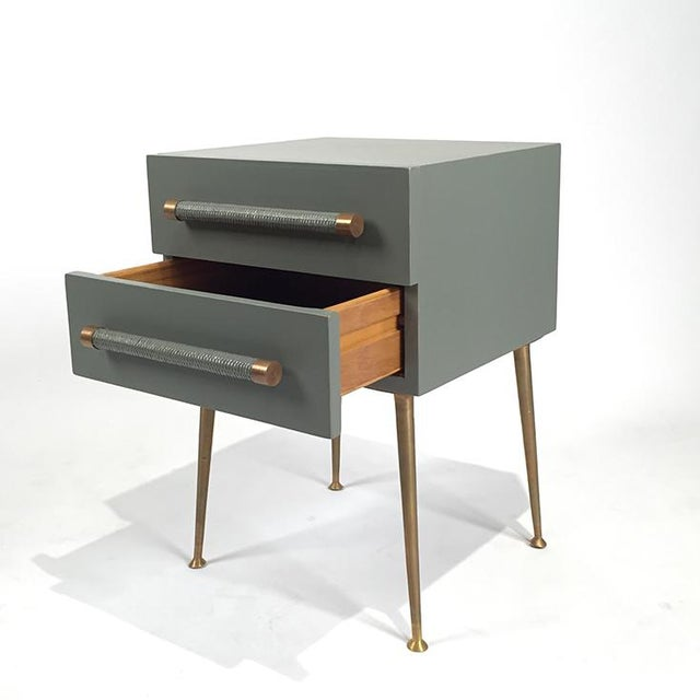 2-Drawer Nightstand with Wicker Pull - Image 4 of 5