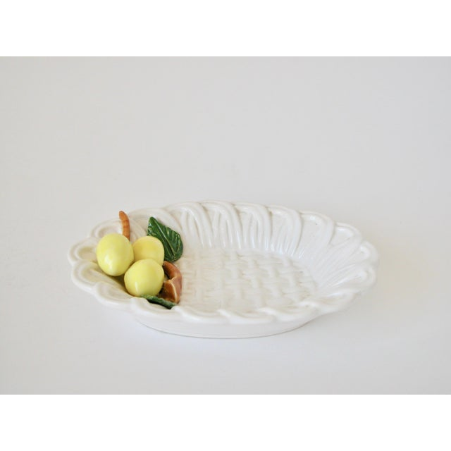 1970s Traditional Majolica Braided Lemon Ceramic Dish For Sale - Image 10 of 10