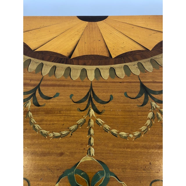 1970s Traditional Hand Painted Demilune Console Table For Sale - Image 10 of 13