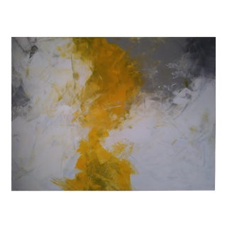 """Spring Yellow"" Original Abstract Art by Kris Gould For Sale"