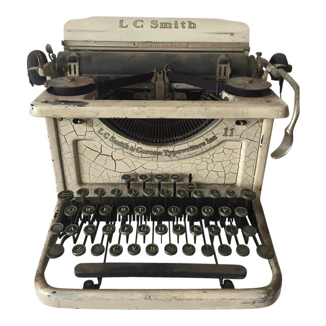 Smith & Corona Shabby Chic Ivory Typewriter - Image 1 of 4