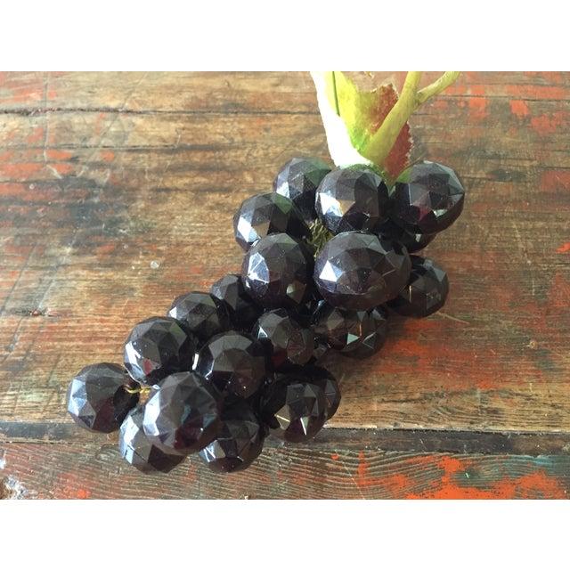 Plastic Dark Purple Grape Cluster - Image 3 of 5