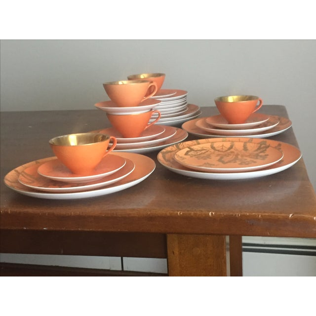 Dorothy Thorpe Persimmon China Set - Set of 67 For Sale - Image 10 of 10