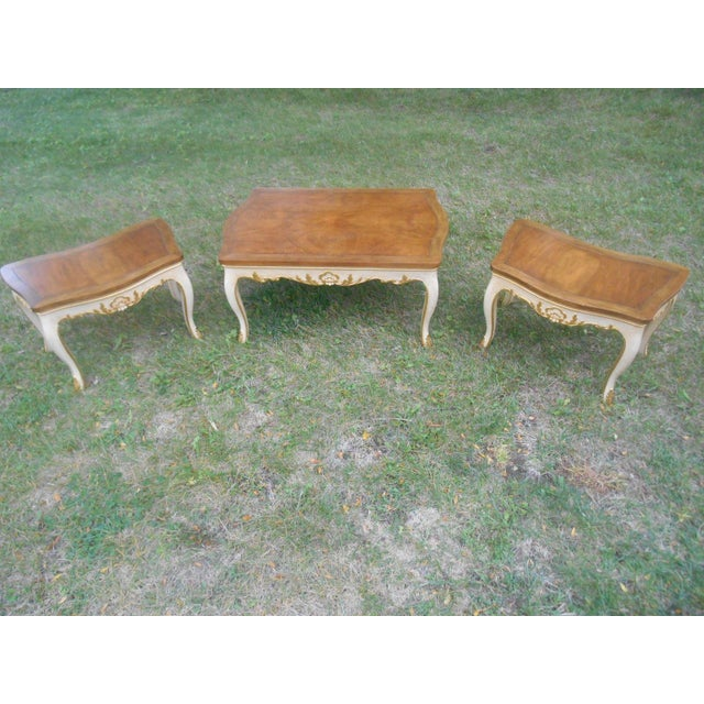 Baker Furniture French Regency Collector Series 3 Piece Coffee Table - Image 6 of 10