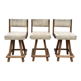 Modern Swivel Counter Stools - Set of 3