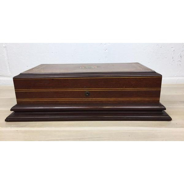 Vintage Cigar Humidor For Sale - Image 4 of 12