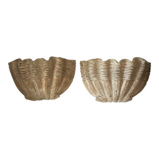 1970s Donghia Clam Shell Sconces - A Pair For Sale