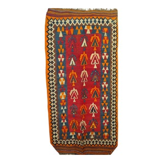 1960s Turkish Kilim Carpet For Sale