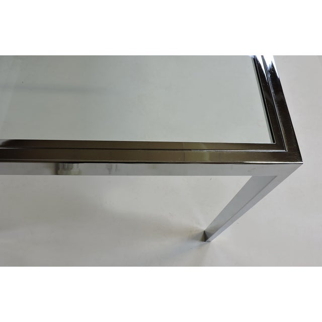 Silver Design Institute America Dia Mid-Century Modern Extendable Chrome Dining Table For Sale - Image 8 of 11